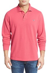 Men's Vineyard Vines Long Sleeve Pique Knit Polo Jetty Red