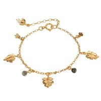 By Emily Just So Leaf Charm Bracelet Gold