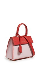 Mateo Elizabeth Ii Mini Satchel Red Pink