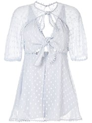 Alice Mccall Moon Talking Playsuit Blue