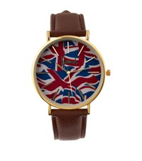Harrods Vintage Flag Watch Brown