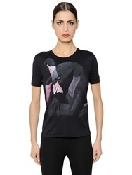Givenchy Flamingo Printed Cotton Jersey T Shirt