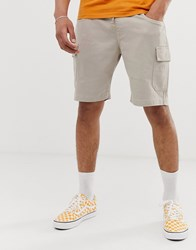 Brooklyn Supply Co. Co Cargo Shorts In Stone Brown