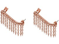 French Connection Chain Fringe Ear Cuff Earring Rose Gold Earring