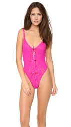 Hanky Panky After Midnight Open Panel Keyhole Teddy Tulip Pink