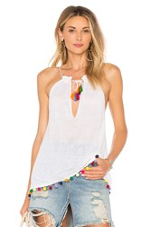 Central Park West Myrtle Tassel Tank White