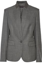 Stella Mccartney Floris Wool Blazer Gray
