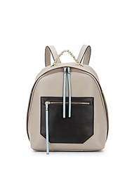 Christopher Kon Kramer Colorblock Leather Backpack Grey Combo