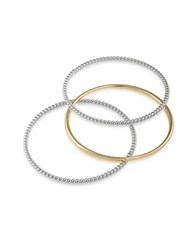 Lauren Ralph Lauren Perfect Pieces 12K Gold And Silver Bangles Set Of 3 Gunmetal