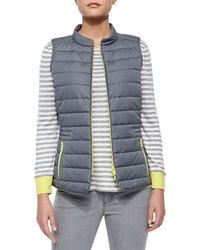 Lafayette 148 New York Quilted Zip Front Vest Petite0