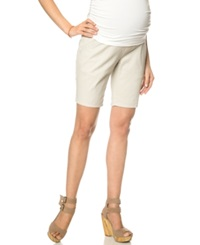 Motherhood Maternity Bermuda Shorts Khaki