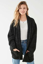 Urban Outfitters Uo Knit Shawl Jacket Washed Black