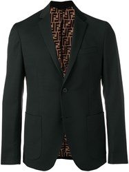 Fendi Single Breasted Blazer Black