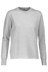 Adam By Adam Lippes Layered Merino Wool Sweater Light Gray