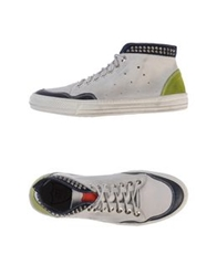 Htc High Tops And Trainers Light Grey