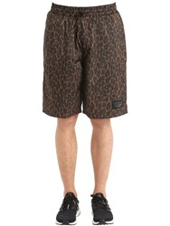 Adidas Nmd Aop Leopard Print Insulated Shorts