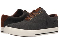 Polo Ralph Lauren Vaughn Black Vintage Burlap Sport Suede Men's Lace Up Casual Shoes Gray