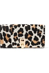 Michael Kors Miranda Leopard Print Calf Hair Wallet Animal Print