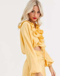 C Meo Collective Knowing Of This Co Ord Top Yellow