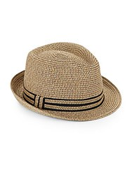 Saks Fifth Avenue Paper Straw Fedora Natural