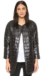 Rebecca Minkoff Rm Active Crystal Puffer Coat Black