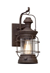Troy Lighting Atkins Outdoor Wall Light Brown
