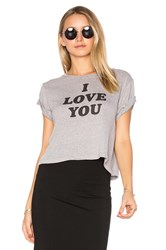 A Fine Line Brothers 'I Love You Sometimes' Cropped Tee Gray