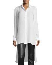 Haute Hippie The Caravan Silk High Low Blouse White