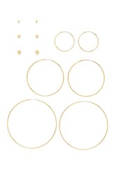 Forever 21 Hoop And Stud Earring Set Gold