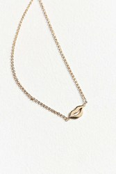Urban Outfitters Pucker Up Charm Necklace Gold