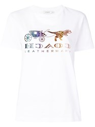 Coach Mirrored Rexy And Carriage T Shirt White