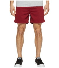 Vintage 1946 Snappers Washed Elastic Waistband Shorts Garnet Men's Shorts Red