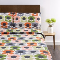 Orla Kiely Multi Flower Oval Duvet Cover Tomato Super King