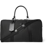 Dunhill Guardsman Leather Trimmed Canvas Holdall Black