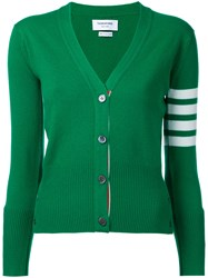 Thom Browne Cashmere V Neck Cardigan Women Cashmere 40 Green