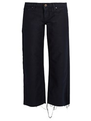 Simon Miller Reed Wide Leg Corduroy Trousers Navy