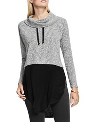 Vince Camuto Turtleneck Rib Knit Pullover Black