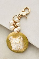 Anthropologie Animal Kingdom Locket Keychain Green