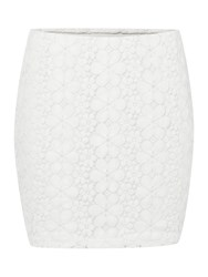 Vero Moda Floral Tube Lace Skirt White