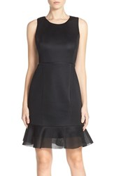 Women's Marc New York Scuba Mesh Fit And Flare Dress