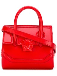 Versace Small Palazzo Empire Bag Women Leather Polyamide Viscose Virgin Wool One Size Red