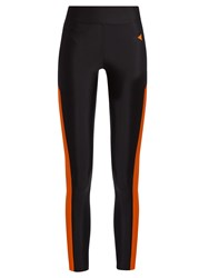 Laain Bianca Contrast Panel Performance Leggings Orange Multi
