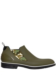 Ishu Camo Two Tone Waterproof Beatle Boots