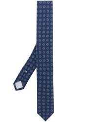 Eleventy Floral Print Tie Blue