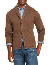 Polo Ralph Lauren Jacquard Fleece Shawl Cardigan Olive