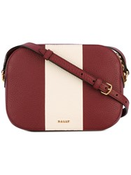 Bally Stripe Detail Crossbody Bag Women Calf Leather One Size Red