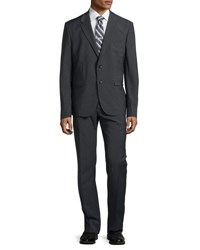 Just Cavalli Two Button Merino Wool Suit Dark Charcoal