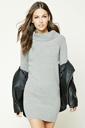 Forever 21 Turtleneck Sweater Dress Heather Grey
