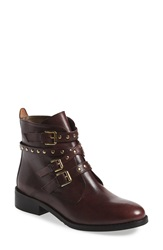 Bella Vita 'Mod' Moto Bootie Women Burgundy Leather