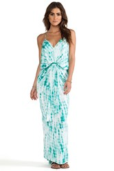 T Bags Knot Front Maxi Dress Turquoise